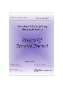ror_format dec - Review of Research Journal