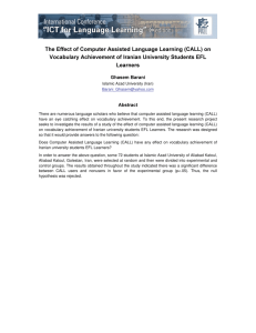 The Effect of Computer Assisted Language Learning (CALL) on