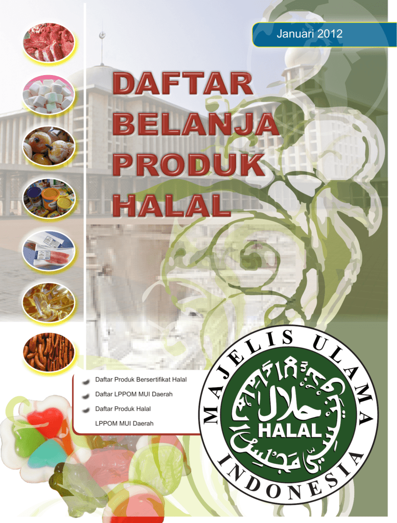 Daftar Belanja Produk Halal Januari 2012
