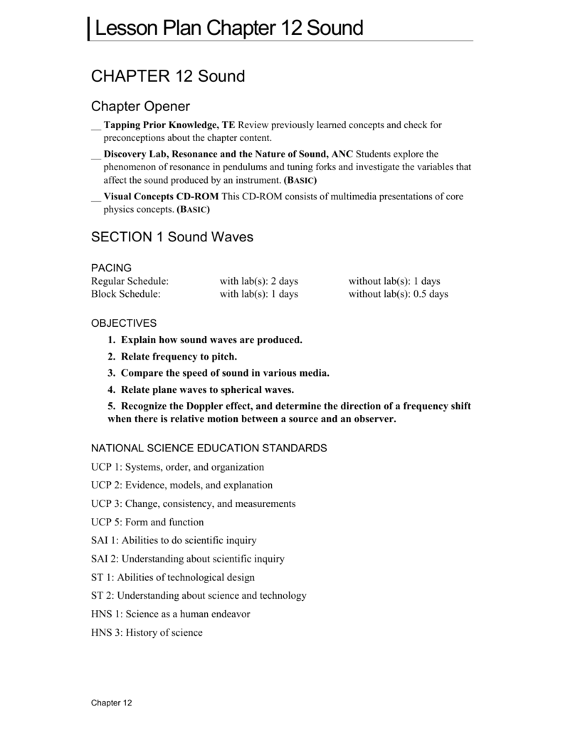 Worksheets Doppler Effect Worksheet chapter 12