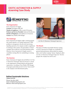 EXOTIC AUTOMATION & SUPPLY eLearning Case Study