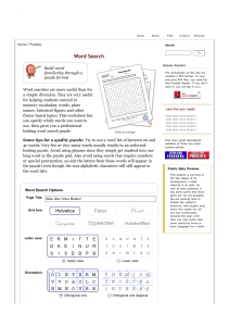 Word Search - WorksheetWorks.com