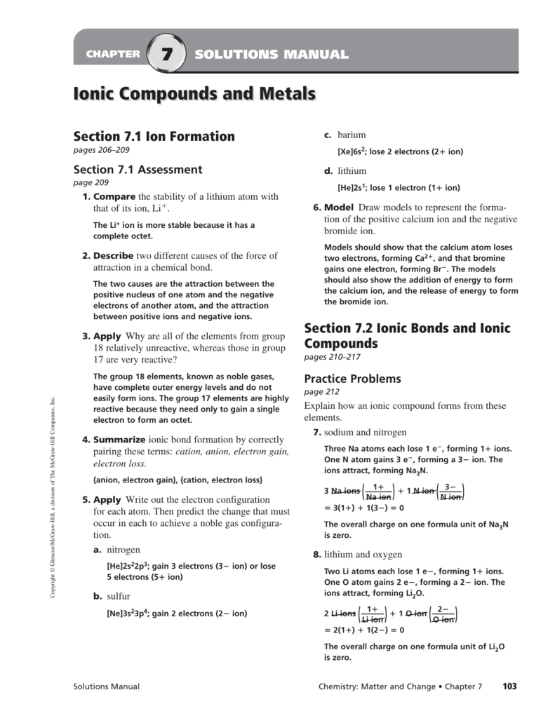Ionic Bonds And Ionic Compounds Manual Guide