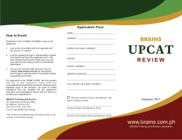 2013 UPCAT Review Brochure CM