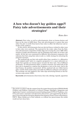 A hen who doesn't lay golden eggs?! Fairy tale advertisements and