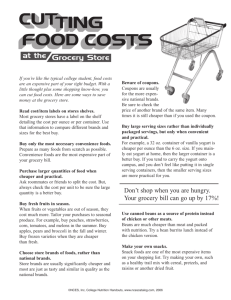 Cutting Food Costs