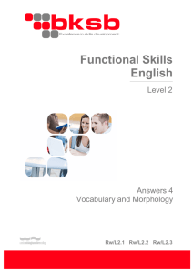 Vocabulary Level 2 answers File - Adult Education in Gloucestershire