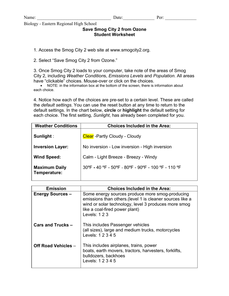 Uncategorized Conservation Of Momentum Worksheet Answers save smog city 2 from ozone student worksheet 1 access the