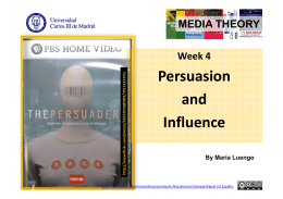 Chapter 3 Persuasion and Influence