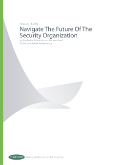 Navigate The Future Of The Security Organization