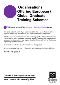 Organisations Offering European / Global Graduate Training Schemes