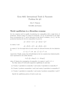 Econ 8402: International Trade & Payments Problem Set #1