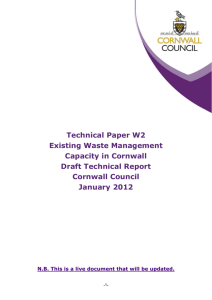 W2 – Existing waste management capacity in