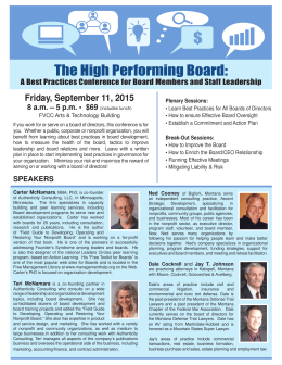 The High Performing Board: