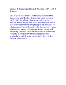Chapter 2, Beginnings of English America, 1607