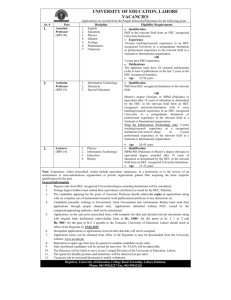 Dowload Advertisement for Teaching Posts