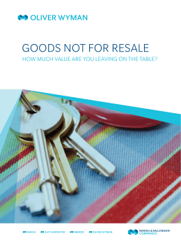 GOODS NOT FOR RESALE