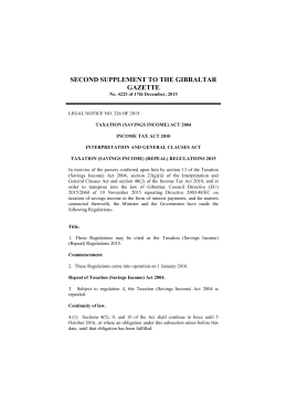 legal notice no - Laws of Gibraltar