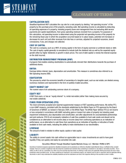 REIT Glossary of Terms