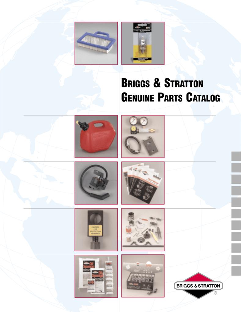 Briggs & Stratton Genuine Parts Catalog