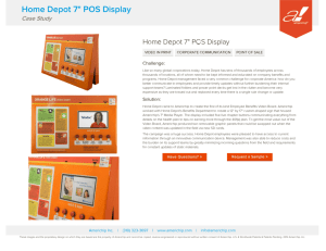 "Americhip: Home Depot 7"" POS Display"