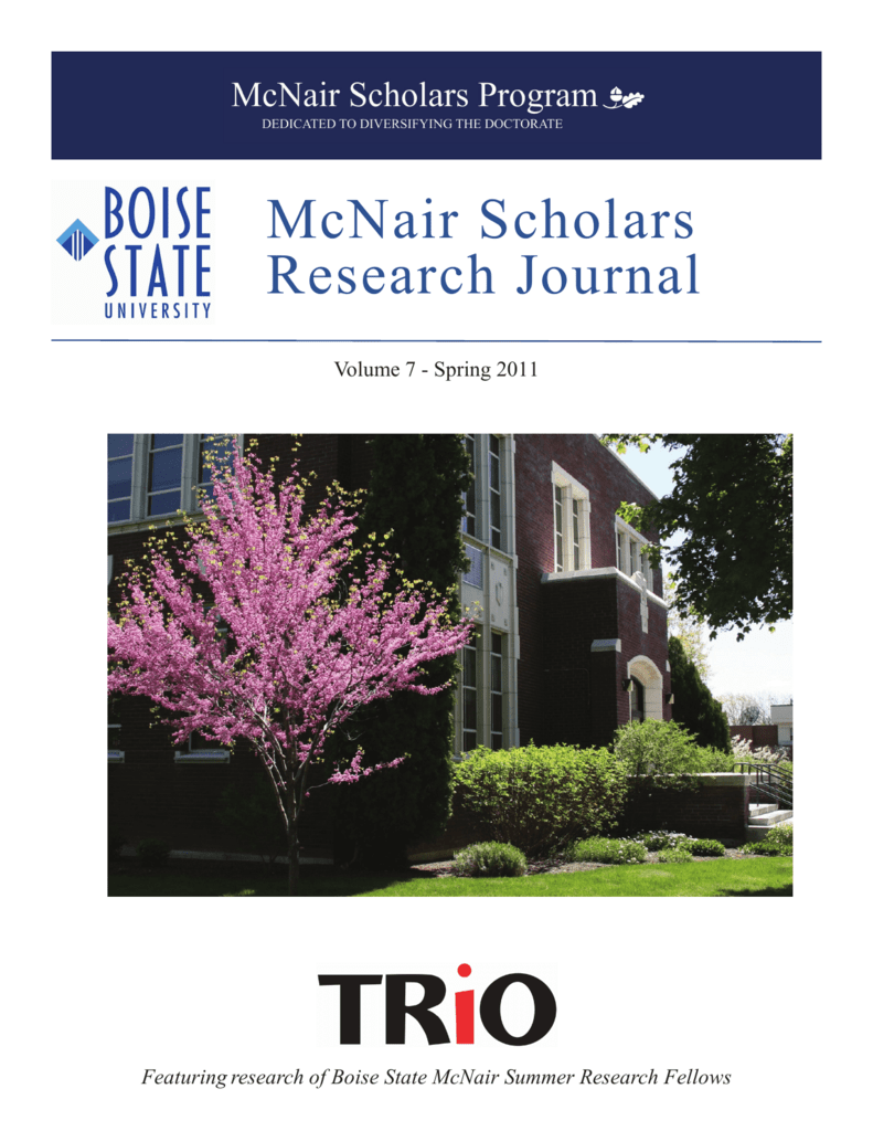 Research Journal McNair Scholars - College of Education
