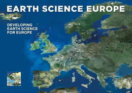Earth SciEncE EuropE