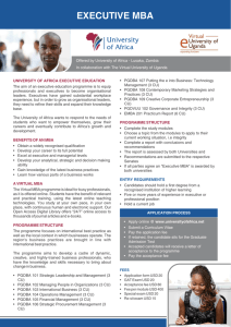 Virtual MBA - University of Africa