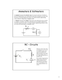 Ammeters & Voltmeters RC – Circuits