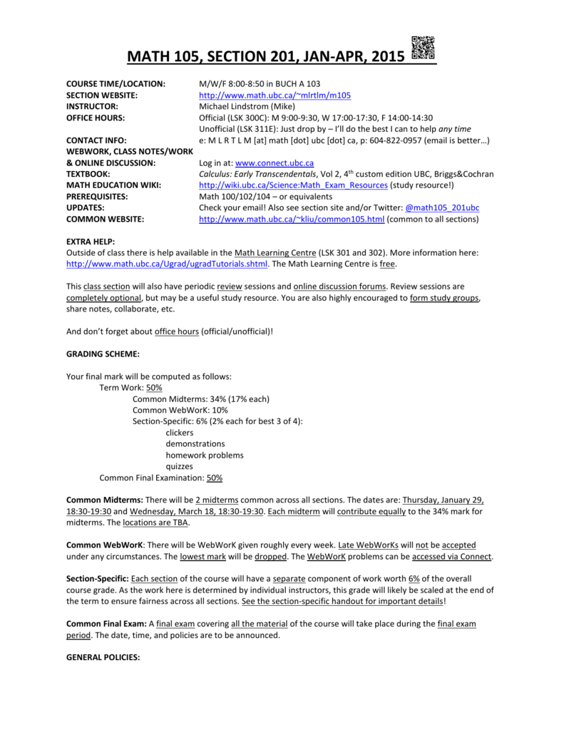 Course Outline - UCLA Department of Mathematics
