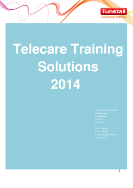Telecare Training Solutions Guide