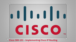 Cisco 300-101 - Implementing Cisco IP Routing