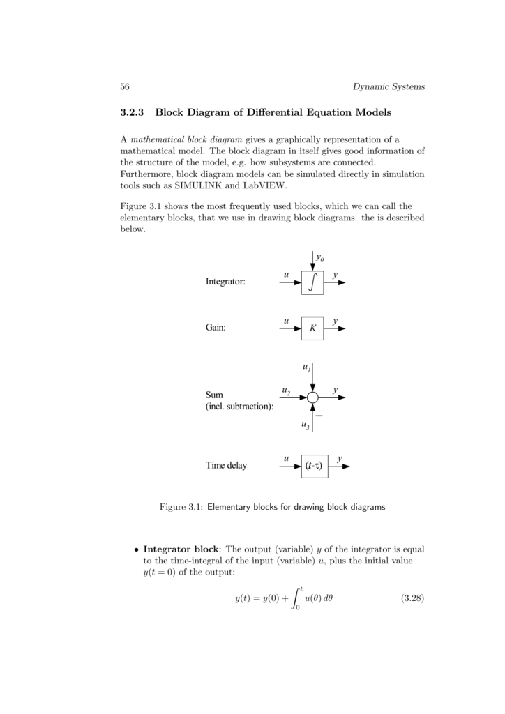 3 2 3 Block Diagram Of Differential Equation Models