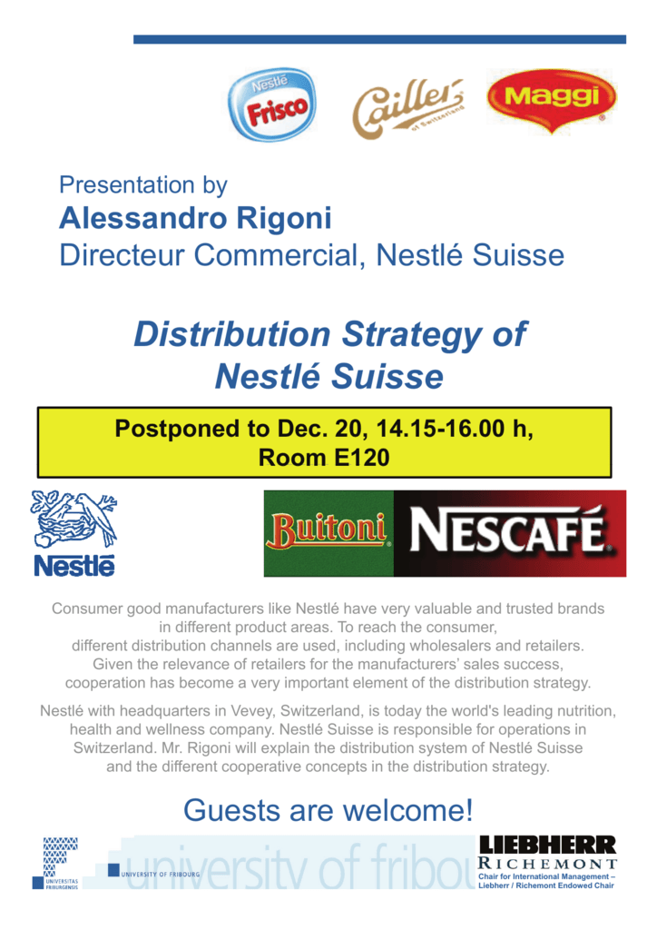 Distribution Strategy of Nestlé Suisse