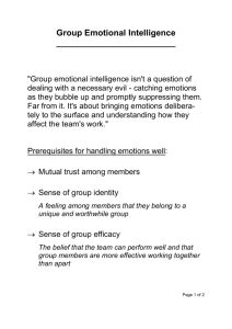 Group Emotional Intelligence