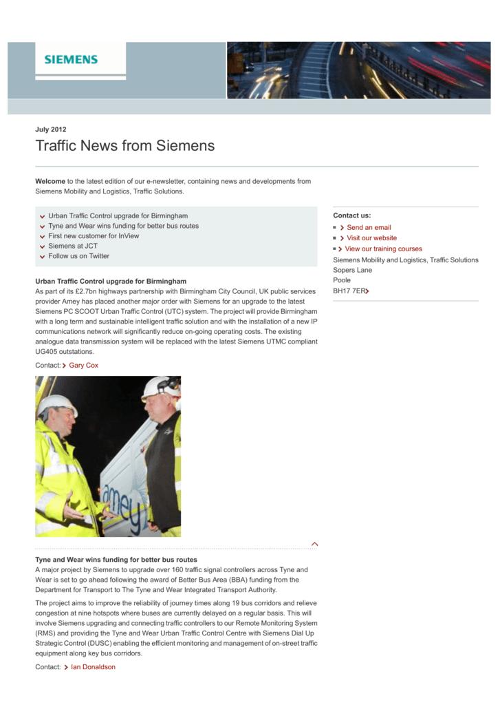 Traffic News from Siemens