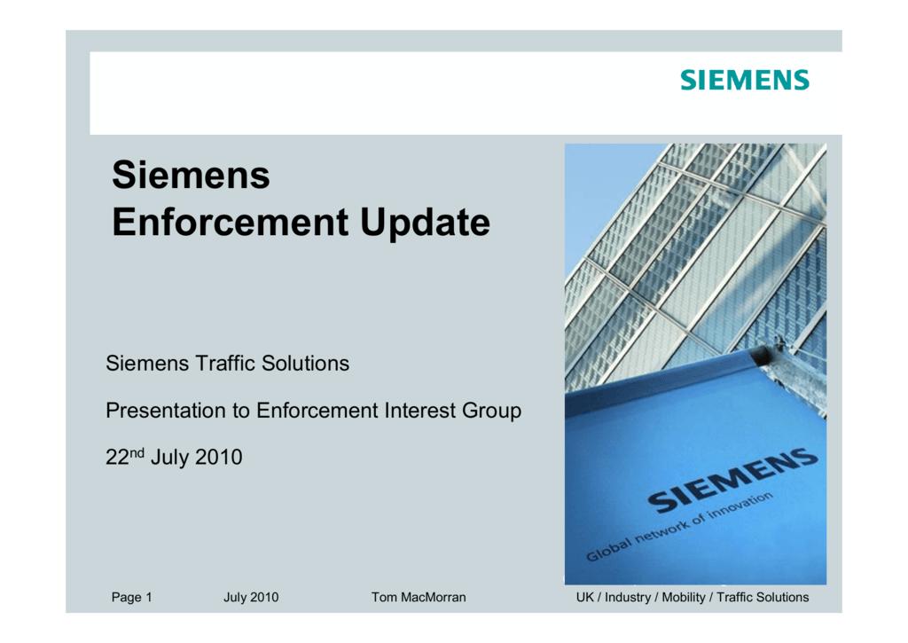 Siemens Enforcement Update