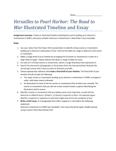 Versailles to Pearl Harbor: The Road to War Illustrated Timeline and