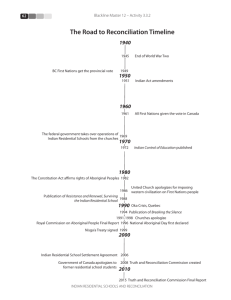 The Road to Reconciliation Timeline