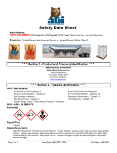 Cement, Portland Cement - Fairbanks Materials Inc.