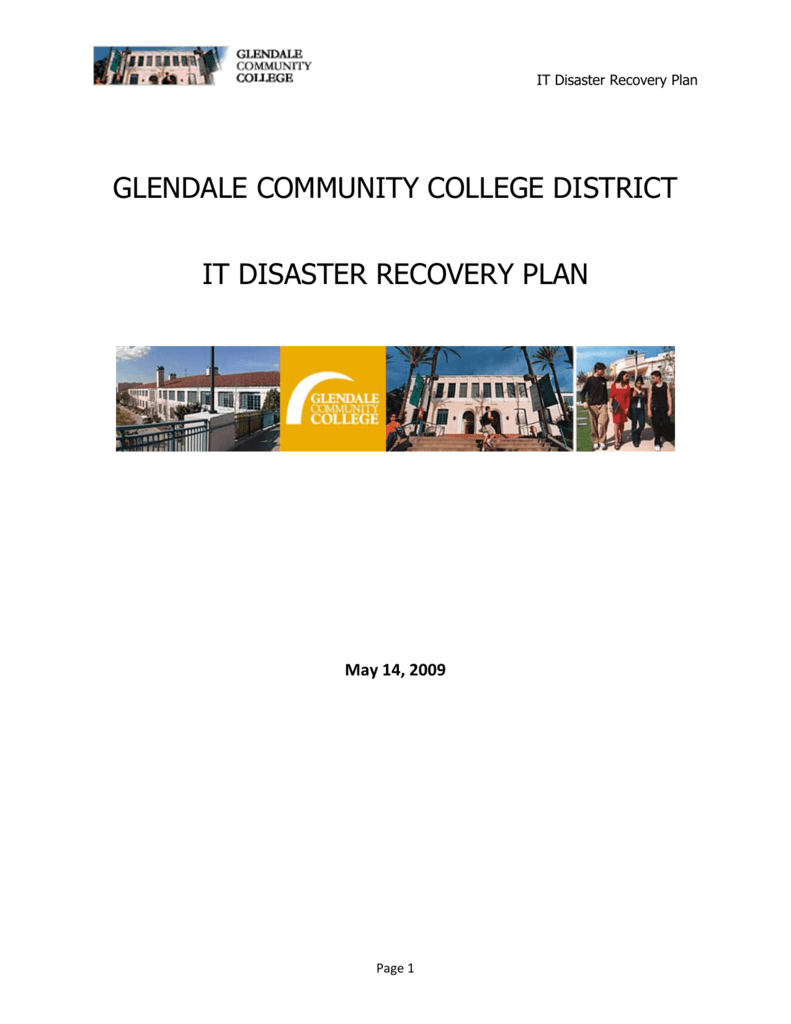 Glendale Community College District IT Disaster
