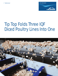 Tip Top Folds Three IQF Diced Poultry Lines Into One