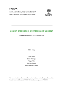 Cost of production. Definition and Concept - FACEPA