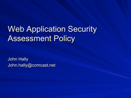 Web Application Security Assessment Policy