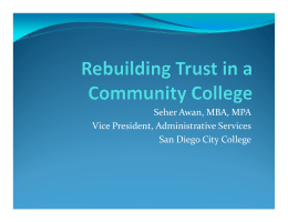 5D-Rebuilding Trust in Community Colleges