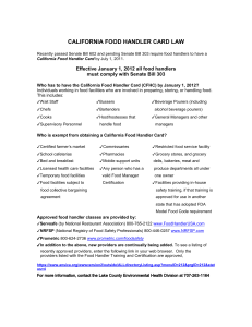 california food handler card law