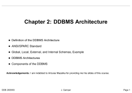 Chapter 2: DDBMS Architecture