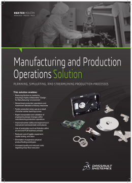 Manufacturing & Production Operations solution brief