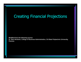 Creating Financial Projections
