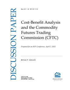 Cost-Benefit Analysis and the Commodity Futures Trading